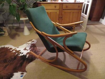 MID CENTURY beautiful bentwood CZECH Rocking Chair THONET STYLE by TON
