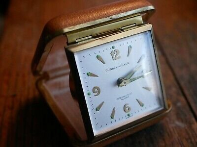 Unique Intermitted Alarm Phinney-Walker Working Travel Clock Glow Germany