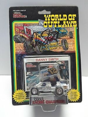 1993 Racing Champions #12 Danny Smith 1/64 sprint car Autographed Signed