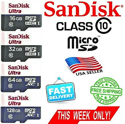 SANDISK 16GB 32GB 64GB   Ultra Micro SD Card Class10 80MB/s BEST PRICE + ADAPTER