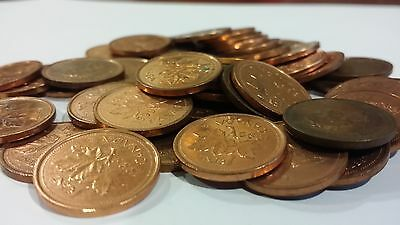 Full Roll Rare 1999 Canada One Cent Pennies Circulated