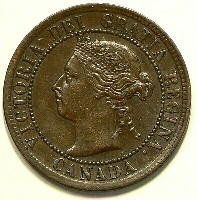 1894 Canada Large Cent Repunched 9 #3525
