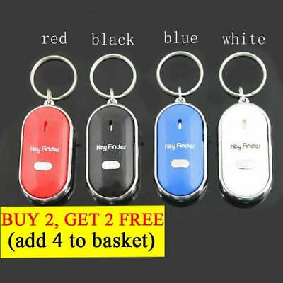 Whistle Smart Locator Keychain Tracker Anti-Lost LED Key Finder Sound Control