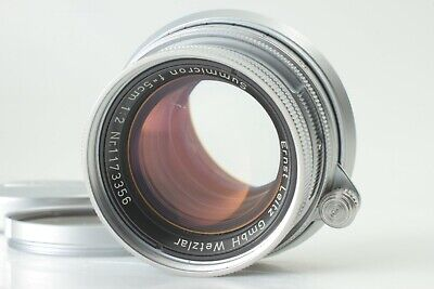 【NEAR MINT】 Leica Leitz Summicron f2 50mm M mount Lens From Japan