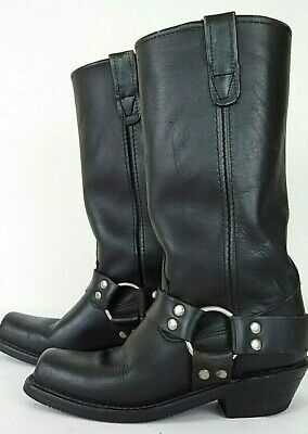 Double-H Boot Company Mens Black Sierra Motorcycle Harness Oil Chem Resist 61/2M