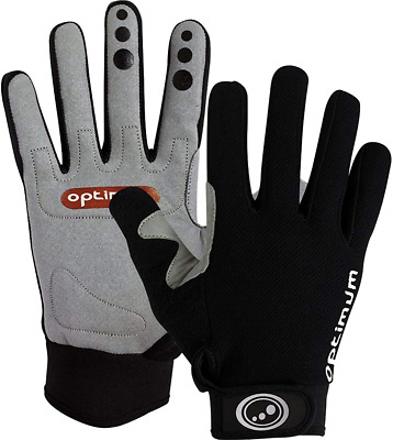 Optimum Boy's Hawkley MTB/BMX Gloves, Black, Large