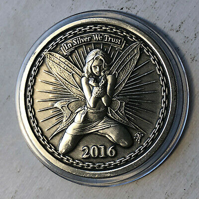 SilverBug Antiqued Alyx The Fairy 1 oz 999 silver with COA limited to 2500
