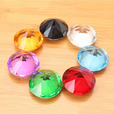 7 Colors Glass Crystal Diamond Shape Paperweight Jewelry Wedding Decor Gift