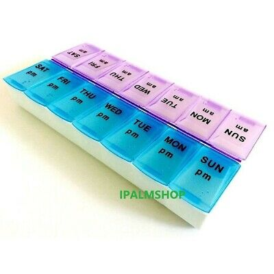 Weekly Daily Pill Box Organiser Tablet Medicine Storage Dispenser 7 Day Week UK