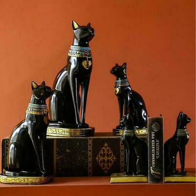 Egyptian Cat Bastet Statue Resin Ancient Goddess Home Decor Sitting Figurine