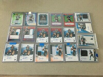 (20) Will Grier RC Auto RPA Game Used Lot - 20 Cards INVESTMENT /25 /99 /15 /10