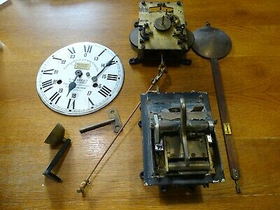 Antique Clock Time Clock Industrial A.lambert To Be Restored