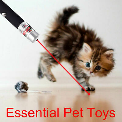 Red Laser Pointer Pen 650nm Visible Beam AAA Training Lazer Mini Pet Cat Dog Toy