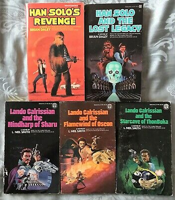 Lot of 5 SW Han Solo, Lando Calrissian Novels * Brian Daley, L Neil Smith * PB