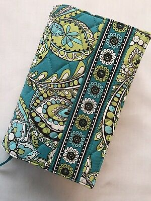 """Vera Bradley """"PEACOCK"""" LIME GREEN/TURQUOISE Paperback Book Journal Cover 7""""x 5"""""""