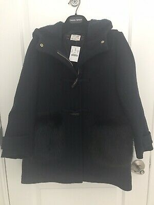 Crewcuts by J Crew Girls Toggle Winter Coat Navy Blue Size 10 NWT