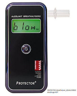 ALCOLIMIT PROTECTOR BREATHALYSER PERSONAL/PROFESSIONAL USE - AS3547 Approved