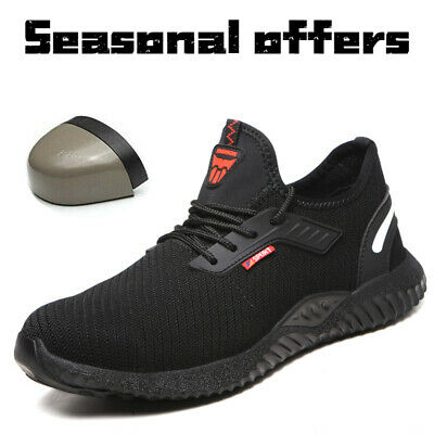 Safety Shoes Steel Toe Trainers Men Women Sneakers Breathable Lightweight Shoes