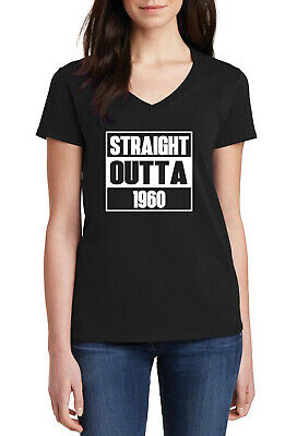 Birthday Gift for 60 Years Old Authentic 1960 Mint V-Neck Fitted Women T-Shirt