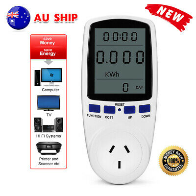 240V Power Meter Energy Monitor Consumption Watt Electricity Usage Test AU Plug