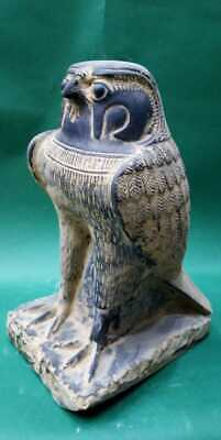 ANCIENT EGYPTIAN ANTIQUES Heavy Statue God HORUS Falcon Protection Sky 1692 BC