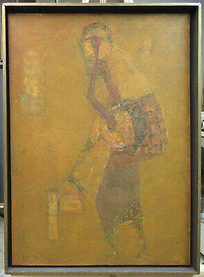 "Rafael Bonilla 1973 Mexican Modern Abstract ""Realismo Social"" Listed Artist"