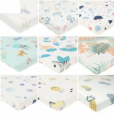 Cotton Pattern Newborn Bed Crib Sheets Mattress Cover Protector Fitted Sheets