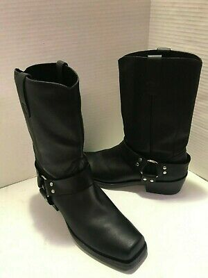 Durango Mens Black Harness Boots DB510 Oiled Leather Motorcycle Boots Size 10 D