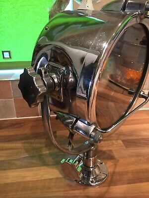 "Vintage Chrome Brass 9"" Francis Ships Searchlight Maritime Marine Nautical Boat"