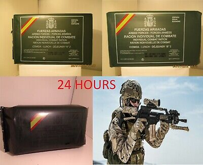 New Mre Lot 24 Hours Spanish Combat Rations. Menus A2, B2 And Breakfast. Es