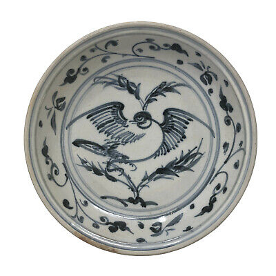 Anamese blue and white ceramic dish from Hoi An hoard