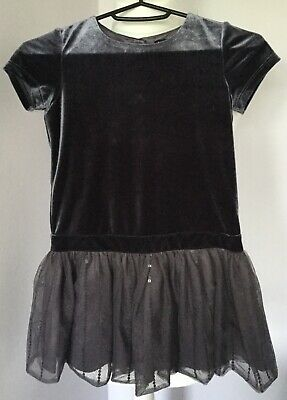 Marks and Spencer autograph girls silver grey dress age 4-5 years