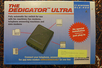THE DEDICATOR Ultra Automatic Fax, Modem, Telephone Switch; TT Systems DLE-400