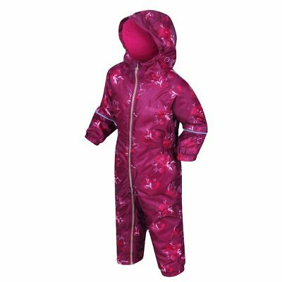 Regatta Kids Waterproof Child Rain Suit Puddle Padded Overall All In One Printed