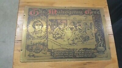 1903 GEORGE RUTLEDGE BRASS ETCHING THE MAHOGANY TREE William Makepeace ThackeraY
