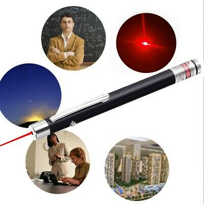 Red Laser Pointer Pen 650nm Visible Beam Light AAA Teaching Lazer Pet Toy Torch