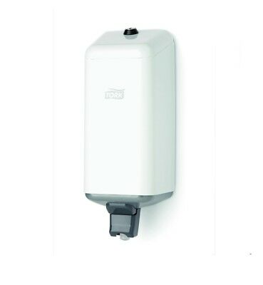 """TORK 252040 Liquid Soap Dispenser METAL S1. Robust wall mounted in """"White""""  NEW"""