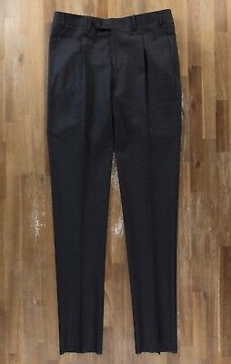 CANALI dark gray wool stretch trousers pants authentic - Size 32 US / 48 EU NWOT