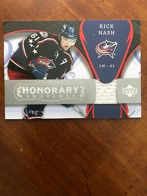 07-08 UD Trilogy Hockey Honorary Swatches HS-RN Rick Nash
