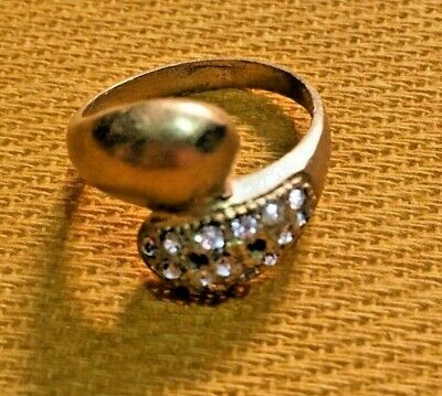 Ancient Ring Bronze Old Vintage Roman Legionary Artifact With Stone GOLD Color