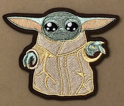 Baby Yoda Iron On Patch Mandalorian NEW Star Wars Morale The Child Embroidered V