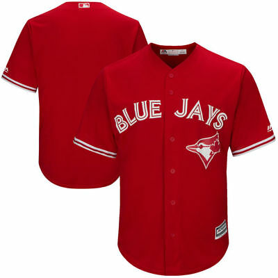 Toronto Blue Jays Cool Base Replica Alternate Red Jersey by Majestic Size Large