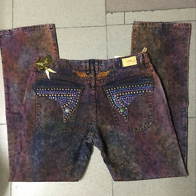 NWT Mens Robin Jeans Purple with Gold tag Wings clip Pants Men/'s size 32-42 Jean