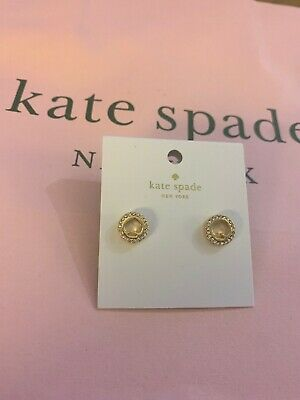 Authentic Kate Spade New York Spot the Spade Pave Gold  Stud Earrings