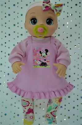 """Dolls Clothes For 17"""" Baby Alive Real As Can Be PINK DRESS~TOP~TIGHTS~HEADBAND"""