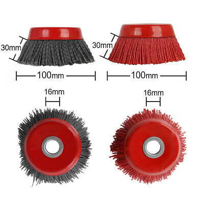 """4"""" Cup Nylon Abrasive Brush Wheel Poly-abrasive for Cleaning 5/8"""" Bore 80 120#"""