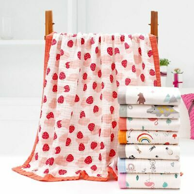 6 Layers Super Soft Cotton Muslin Blanket Stroller Cover Baby Receiving Blanket