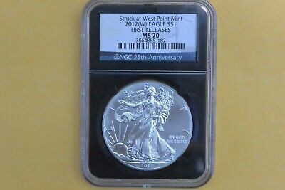 2012 (W) American Silver Eagle Ngc Ms70 Struck At West Point First Releases