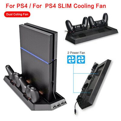 PS4 Cooling Station Vertical Stand +2 Controller Charging Dock For PlayStation 4