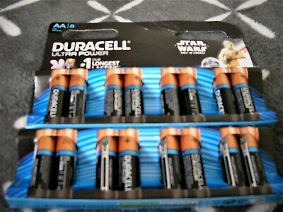 16 Piles Duracell Ultra Power Aa  Lr6/Mn1500 100%Neuves!!
